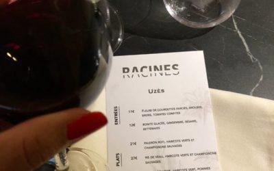 Un menu de Racines